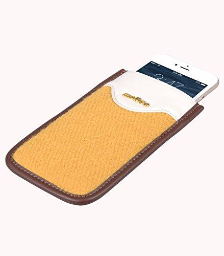 Apple iPhone 6s / 6, Melkco PU Kern Premium Series Cuir de vache Case haut de gamme Made main Pouch mode sensation Yellow 6