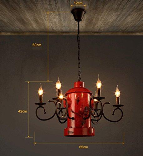 Risparmiare più energia lampadario --- colonna di fuoco lampadari in ferro creativo Cafe Bar Restaurant personalità retrò lampadario --- LOFT Moda -1 lampadario luce
