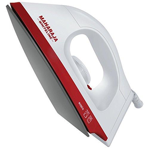 Maharaja Whiteline Easio 1000-Watt Dry Iron (White and Red)