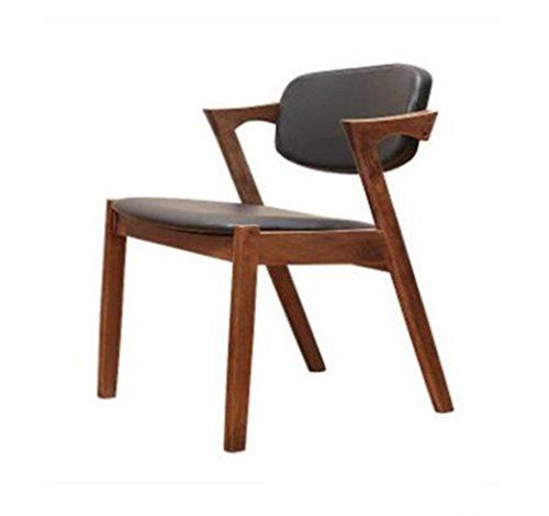 Tabouret en bois Chaise de salle à manger en bois massif nordique Z-Chair soft pack dossier chaises, cafétéria loisirs café tables et chaises (Couleur : D)