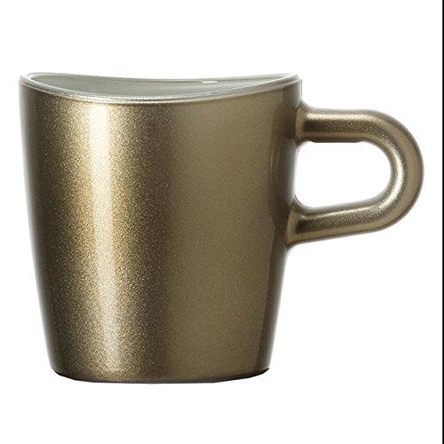 Leonardo Loop braun, Metallic Espresso 1(S) Tasse/Mug-Becher & Tassen, (Espresso, Single, braun, metallic, 1PC (S), 80mm, 55mm)