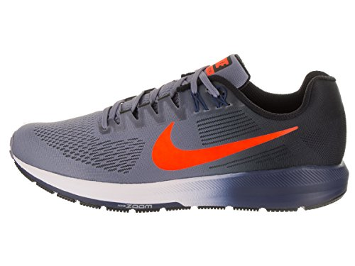 Nike Air Zoom Structure 21, Scarpe Running Uomo Blu (Dark Sky Blue/total Crimson-black-navy 406)