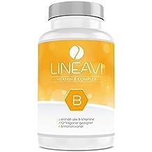 Vitamina B Complex LINEAVI • todas las vitaminas B en un comprimido con una alta concentración • vitaminas B1, B2, B3, B5, B6, B7, B9, B12 • fabricado en Alemania • 180 cápsulas veganas (6 meses)