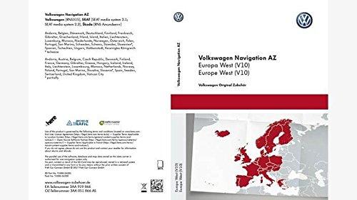 VW RNS 315Skoda Amundsen Seat SAT NAV. NaV. SD Karte West Europe V102018 - West-sd-karte