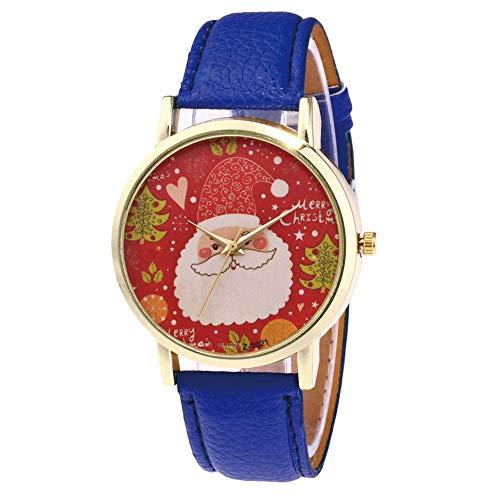 Junjie Dame Armbanduhr Männer Herren Fitness Frauen Vogue Tischuhr Smartwatch Älteres Spiegel Uhr Schnee Haus Lederband Uhren Edelstahl Armband Sport Holz Uhr Minimalistischen...