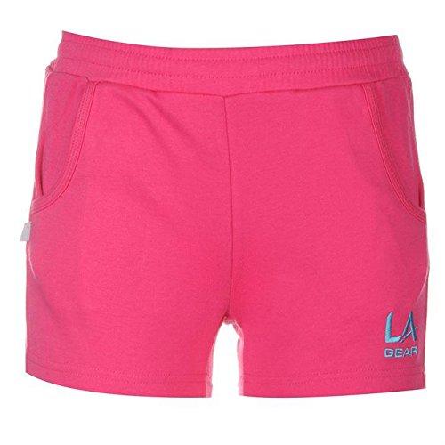la-gear-madchen-shorts-trainingshose-sporthose-kurz-jogginghose-kinder-freizeit-pink-146-152