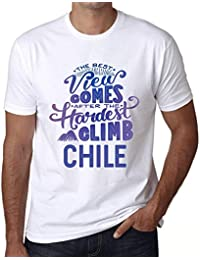One in the City Hombre Camiseta Vintage T-Shirt Gráfico Best Views Mountains Chile Blanco