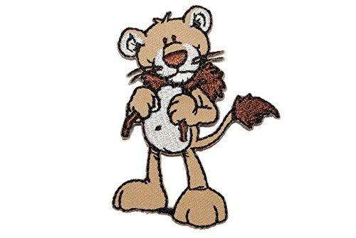 Nici Löwe Hoody 5,4 cm * 7 cm Bügelbild Aufnäher Applikation Baby mit Kapuze wild Friends Tier Baby (Freund Hoody)