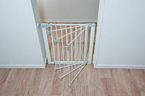 Safety 1st SecurTech Tür- und Treppenschutzgitter, aus Metall, schließt automatisch,Weiß - 2