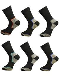 6 Pair Pack Mens Ultimate Walking Socks By Freshfeel Size 6-11
