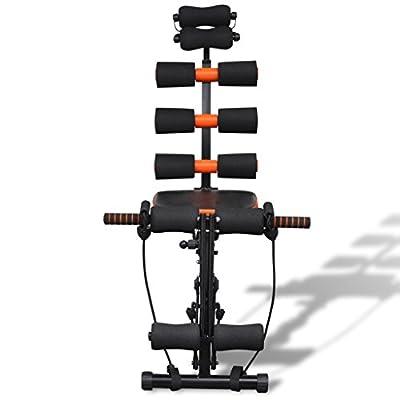 vidaXL Fitnessgerät Heimtrainer Bauch Rücken Trainer Muskelmaschine Bewegungsgerät