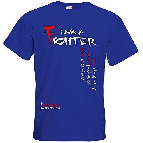 getshirts - Kampfkunst Lifestyle Shop - T-Shirt - Kampfkunst Lifestyle - I am a Fighter Royal Blue