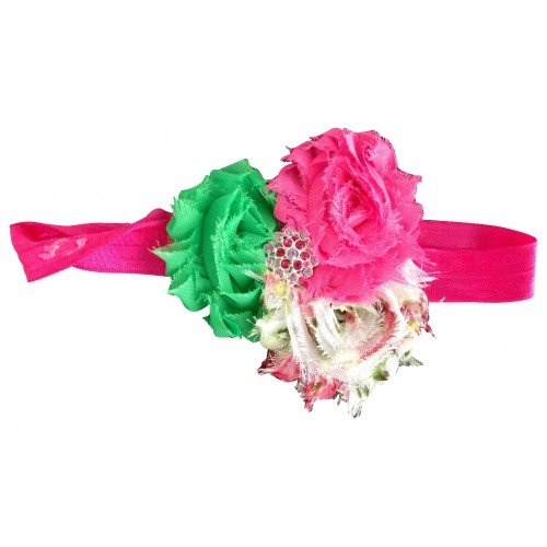 Newborn/BabyGirl Headband /Headwear/ Hair Accessories/ with ruffled chiffon flowers