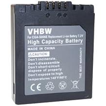 vhbw Batteria 600mAh (7.2V) per Fotocamera Leica V-Lux 1 & Panasonic Lumix DMC-Serie, FZ7,FZ8,FZ18, FZ28, FZ30, FZ35, FZ38, FZ50 come Leica BP-DC5