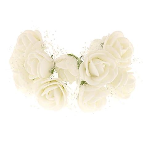 144pcs Petite Rose Fleur Artificielle Décoration pour Maison Mariage Fête