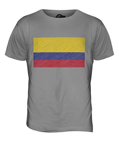CandyMix Kolumbia Kritzelte Flagge Herren T Shirt Hellgrau