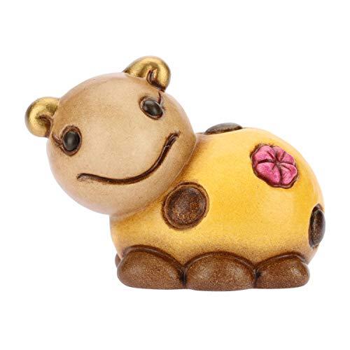Thun® - mini coccinella gialla collezionabile energia - animali soprammobile da collezione - ceramica - i classici