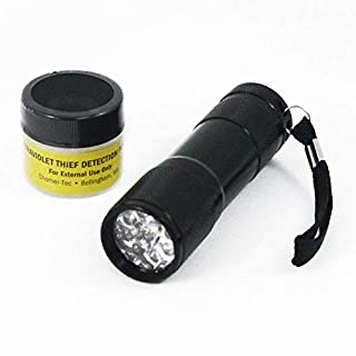 ASR Federal Ultraviolet UV Theft Detection Powder & Ultraviolet UV Led Flashlight Combo