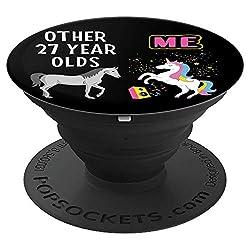 27th Birthday Gift Other 27 Year Olds Me Unicorn Girlfriend - PopSockets Ausziehbarer Sockel und Griff für Smartphones und Tablets
