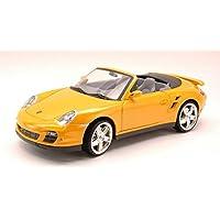 MOTORMAX MTM73183YL PORSCHE 911 TURBO CABRIO 2006 YELLOW 1:18 MODELLINO DIE CAST
