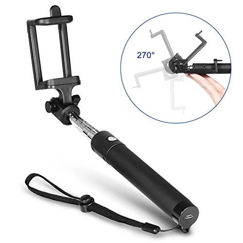 Bluetooth Selfie Stick, TOPLUS Selfiestick für alle handys bluetooth Selfie-Stange erweiterbar für iPhone 6s 6 5, Galaxy, Nexus und andere Smartphones (Schwarz) - 4