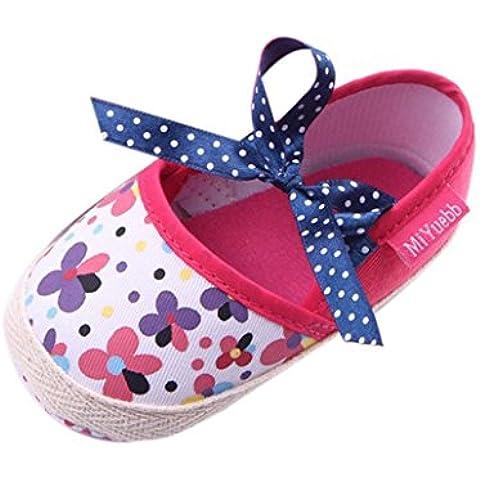 Transer® Bebe Zapatos de suela suave floral infantil Baby First Walker Toddler Shoes