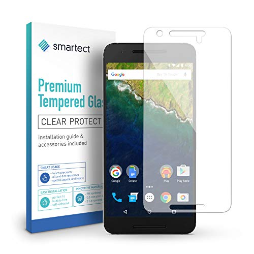 smartect Panzerglas für Google Huawei Nexus 6P - Bildschirmschutz mit 9H Härte - Blasenfreie Schutzfolie - Anti Fingerprint Panzerglasfolie