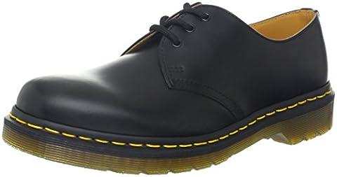 Dr. Martens 1461 Pw, Chaussures de ville mixte adulte, Noir (Black Smooth), 42 EU
