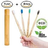 Best Cepillos de madera - Cepillos de dientes de Bambú, Ecológicos , 100% Review