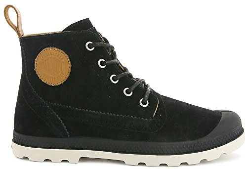 Palladium London LP Mid W, Baskets Hautes Femme Schwarz (Black-Cuerdo)