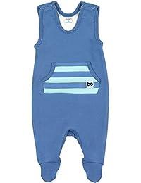 Blau oder Hellblau mit gestreifter Tasche- Strampelanzug f/ür Erstausstattung Jungen Jungs Pinokio Baby Strampler 100/% Baumwolle Garcon