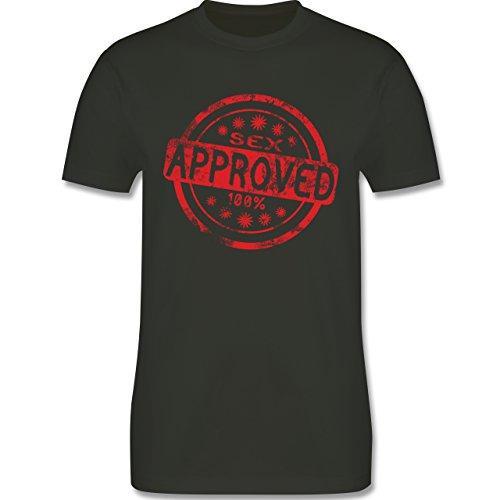 lustige Sprüche - Sex approved - L190 Herren Premium Rundhals T-Shirt Army Grün