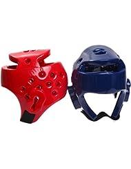 upantech adultos y niños Protector de cabeza Gear Entrenamiento Sparring Casco Kick Boxing Protección S, M, L y XL, azul