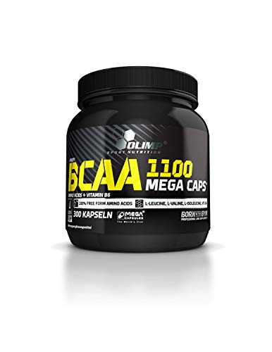 Olimp BCAA Mega Caps Amino Tabs Aminosäuren 1100, 300 Kapseln