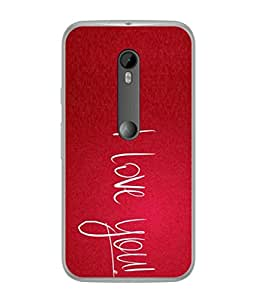 PrintVisa Designer Back Case Cover for Motorola Moto G Turbo Edition :: Virat FanBox Moto G Turbo Virat Kohli (I Love You Cool Red Design)