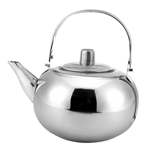 non-brand Sharplace Camping Angeln Wasserkocher Kaffee Teekanne aus Edelstahl - Silber, 1.5L