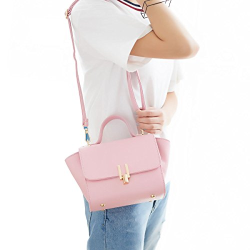 DISSA ES826 neuer Stil PU Leder Deman 2018 Mode Schultertaschen handtaschen Henkeltaschen,280×120×170(mm) Rosa