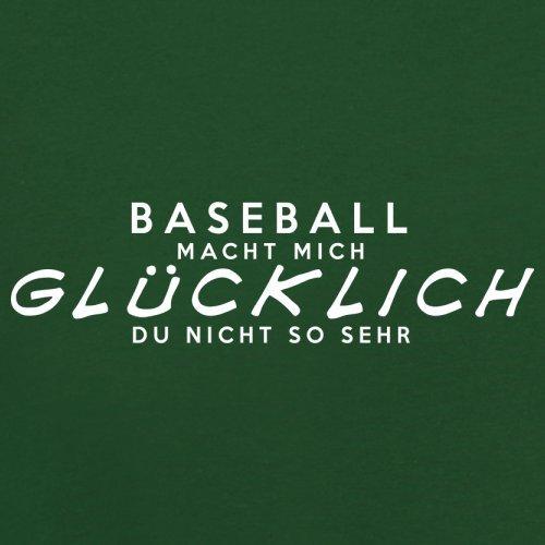 Baseball macht mich glücklich - Herren T-Shirt - 13 Farben Flaschengrün