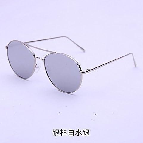 LXKMTYJ Große Boxed Jurte Persönlichkeit Meer Tabelle rundes Gesicht Sonnenbrillen