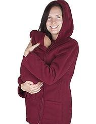 Hrph Otoño Las mujeres embarazadas Escudo canguro paño grueso y suave del portador de bebé El uso de maternidad Hoodie de gruesas capas calientes