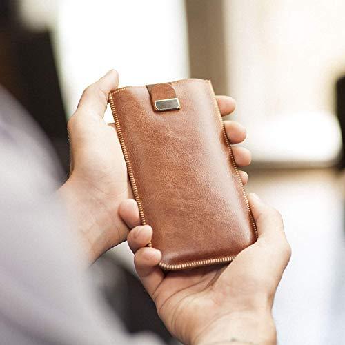 Housse en cuir pour iPhone XS MAX, étui cover coque case pochette en mousse, également idéal pour 8 Plus, 7 Plus, 6 Plus, 6S Plus