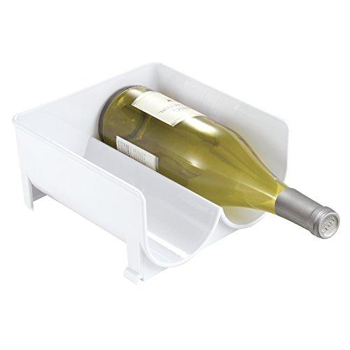 Rangement à vin empilable mDesign, pour réfrigérateur, cellier de cuisine - Blanc