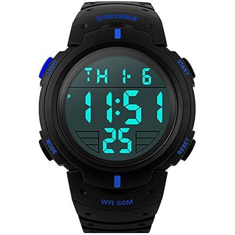Skmei 1068 muñeca al aire libre unisex de deporte de los hombres Relojes Hombre Reloj digital resistente al agua