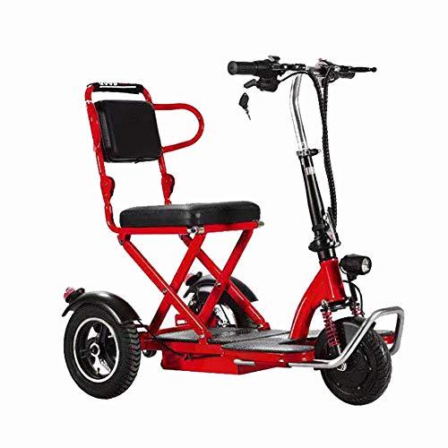 BR Elektrofahrzeug Elektro Scooter Elektro Dreirad Intelligente DREI-Gang-Schaltung mit LED-Scheinwerfern Stahlrahmen Bequemer und Bequemer Sitz,20ah