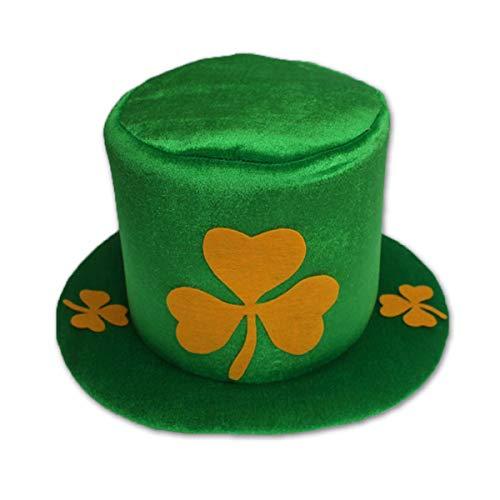 XingYue Direct St. Patrick's Day Party Kostüm Hut grün Kobold Shamrock Zylinder