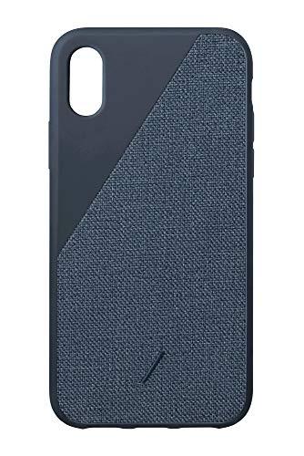 Native Union CLIC Canvas - Cover Protettiva a Prova di Caduta in Tessuto Pregiato - Compatibile con iPhone XS Max (Navy)