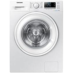 Samsung WW80J5556DW Autonome Charge avant 8kg 1400tr/min A+++-10% Blanc machine à laver - Machines à laver (Autonome, Charge avant, Blanc, Gauche, LED, 8 kg)