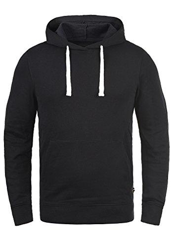 PRODUKT Poldi Herren Kapuzenpullover Hoodie Pullover Mit Kapuze Und Fleece-Innenseite, Größe:L, Farbe:Black