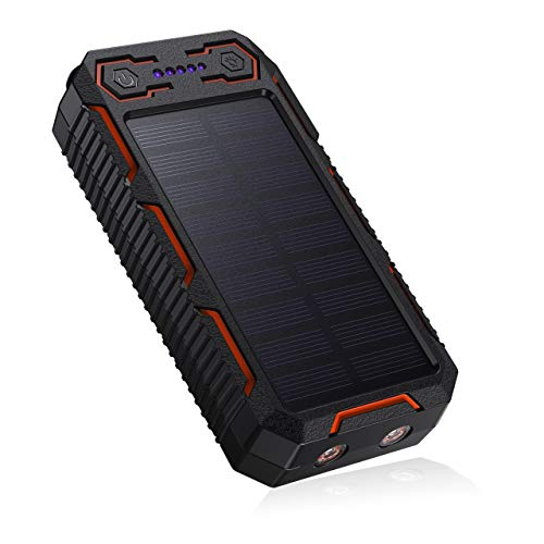 POWERADD Apollo 26800mAh Dual USB Tragbare Solar Ladegerät, Solar Powerbank mit 2...