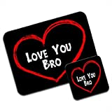 Love You Bro Brother Birthday Gift Premium Mousematt - Best Reviews Guide